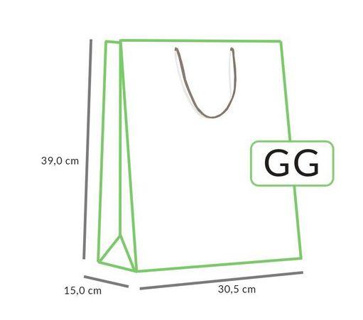 Sacola Unitária de Papel GG - Diversas Cores