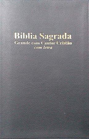 BÍBLIA COM CANTOR CRISTÃO GRANDE LETRA LUXO PRETA