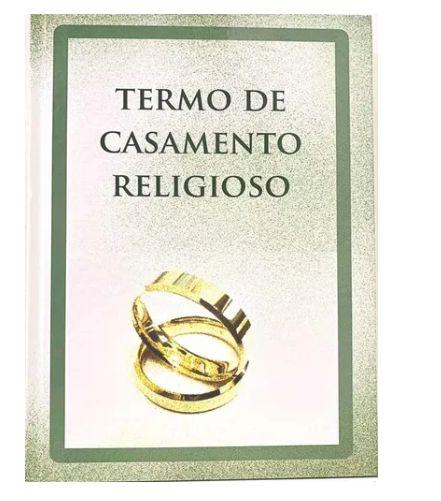 LIVRO DE TERMO DE CASAMENTO RELIGIOSO