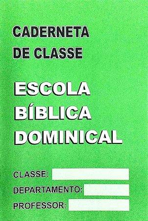 CADERNETA DE CLASSE EBD