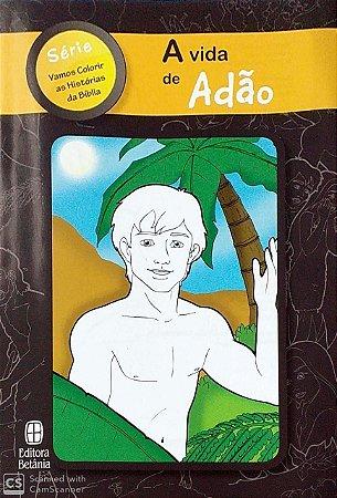 A VIDA DE ADÃO COLORIR