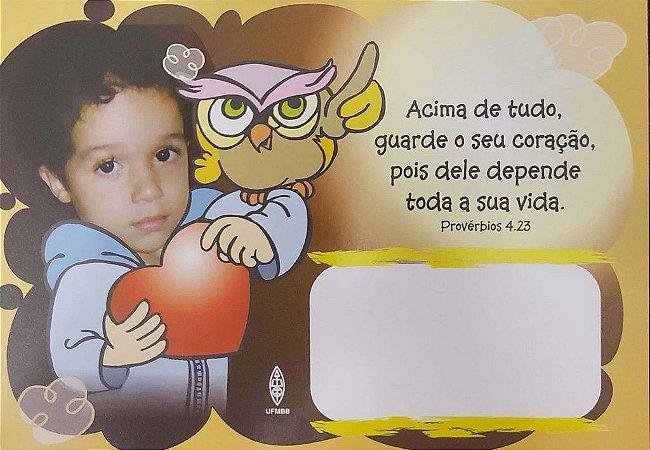 ACIMA DE TUDO GUARDE O SEU CORAÇÃO CARTÃO ROL DE BEBÊS MENINO UFMBB