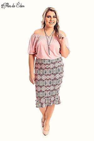 Blusa Plus Size Feminina Ciganinha