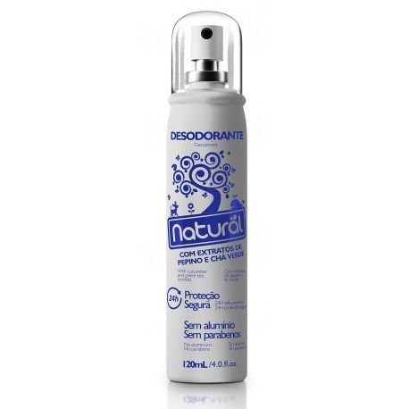 Desodorante Spray Pepino e Chá Verde 120ml