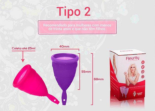 Fleurity Coletor Menstrual Tipo 1 e 2 (2 unidades)