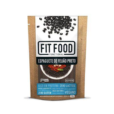 Espaguete de Feijão Preto Orgânico Lowcarb Fit Food
