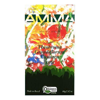 Chocolate Theobroma Grandiflorum Cupuaçú Orgânico 80% Amma 80g