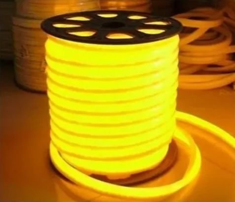 Mangueira Fita LED Neon Flexível Luz Amarela - 12w por metro - 220v -  IP65 - Metro