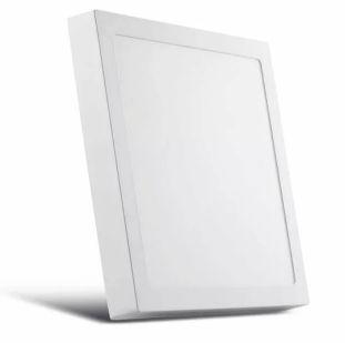 Luminária Plafon 60x60 48W LED Sobrepor Quadrado Branco Quente 3000k