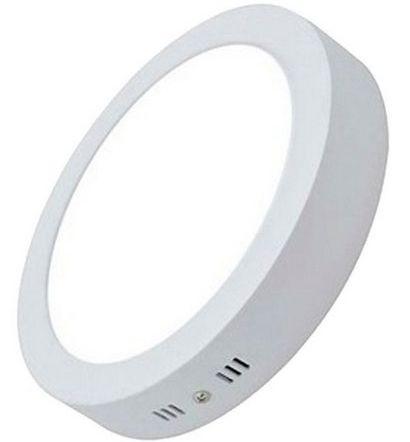 Luminária Plafon 12w LED Sobrepor Redondo Branco Quente 3000k