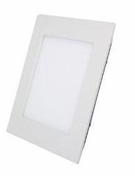 Luminária Plafon 06w LED Embutir Quadrado Branco Frio 6000K