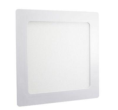 Luminária Plafon 18w LED Embutir Quadrado Branco Quente 3000K