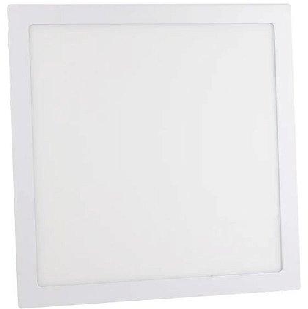 Luminária Plafon 36w LED Embutir Quadrado Branco Quente 3000K