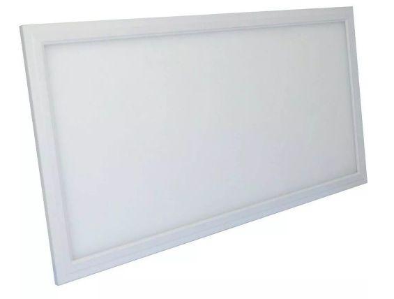 Luminária Plafon 36w LED Embutir Retangular Branco Quente 3000K