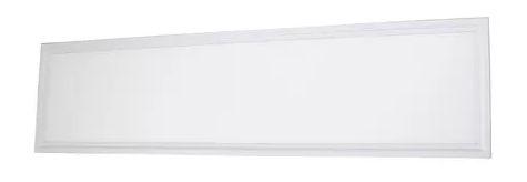 Luminária Plafon 50w LED Embutir Retangular 30x120cm Branco Quente 3000K