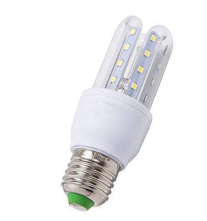 Lampada LED 2U (milho) de 03w E27 Branco Frio