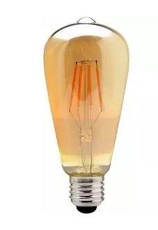 Lâmpada Retrô Filamento Led Vintage St58 4w Branco quente Bivolt