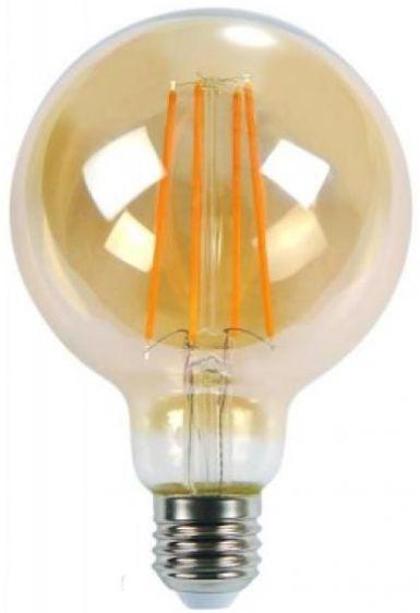 Lâmpada Retrô Filamento Led Vintage G125 4w Branco Quente Bivolt