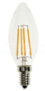 Lâmpada Retrô Filamento Led Vintage vela  4w Branco Frio - E14 - Bivolt
