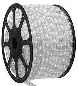Mangueira LED Redonda Rolo com 100m Branco Frio 110v  - À prova d'água
