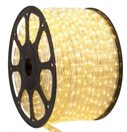 Mangueira LED Redonda Rolo com 100m Branco Quente 220v  - À prova d'água