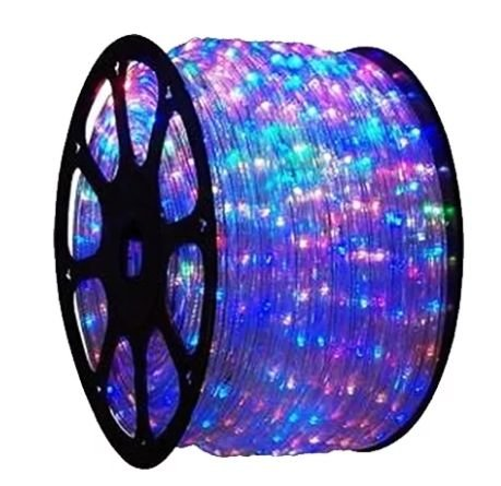 Mangueira LED Redonda Rolo com 100m Colorida 110v  - À prova d'água
