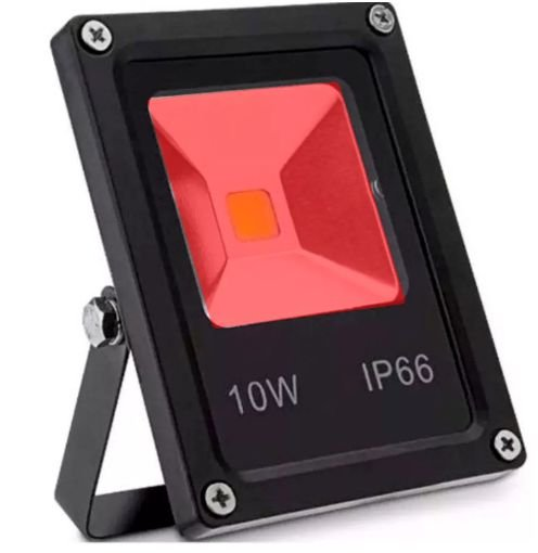Refletor Holofote LED 10w Vermelho