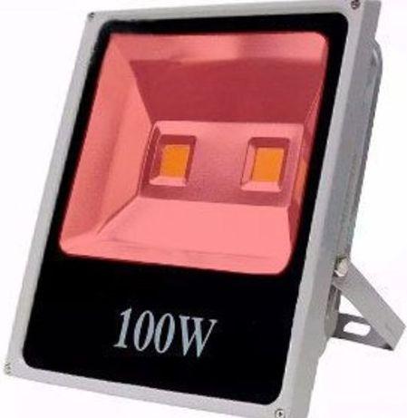 Refletor Holofote LED 100w Vermelho