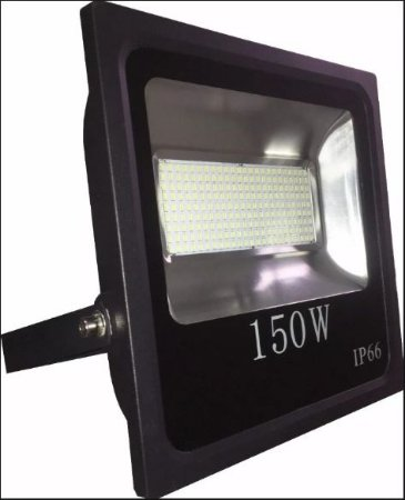 Refletor Led Slim SMD 150W Branco Frio