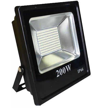 Refletor Led Slim SMD 200W Branco Frio