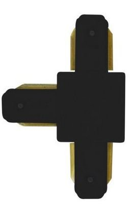 Conector Emenda - Tipo T - Para Trilho Eletrificado LED - Cor Preta