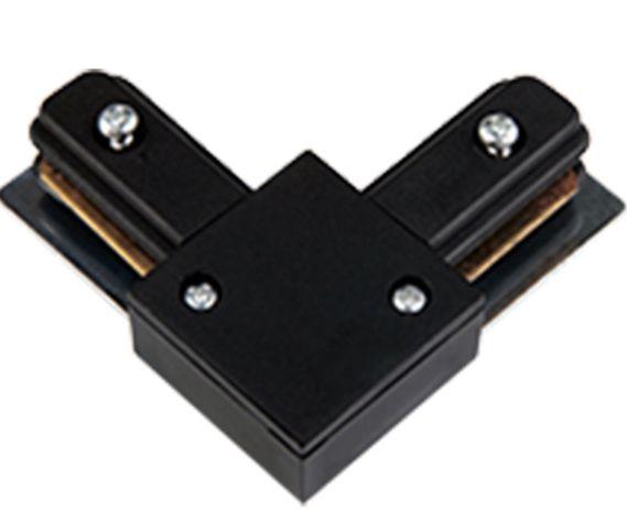 Conector Emenda - Tipo L - Para Trilho Eletrificado LED - Cor Preta