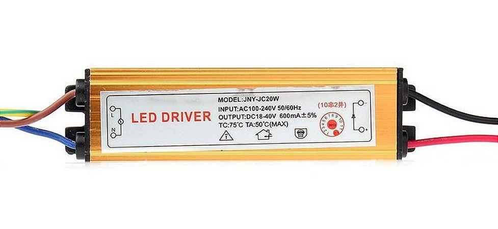 Driver Reator - 20w - 400mA - Para Reparo de Refletor LED - Bivolt