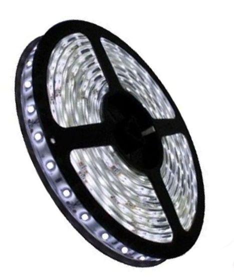 Fita LED - 5050 Branco Frio (6000K) - Rolo com 5 Metros - 14w  - 60 LEDs por Metro - IP20 (sem Silicone) - 12V