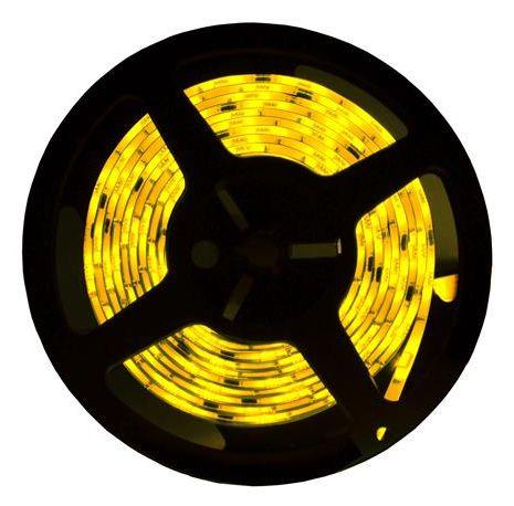 Fita LED - 5050 Amarelo - Rolo com 5 Metros - 14w  - 60 LEDs por Metro - IP20 (sem Silicone) - 12V