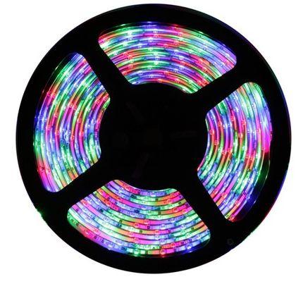 Fita LED - 5050 RGB (Colorida) - Rolo com 5 Metros - 14w  - IP20 (sem Silicone) - 12V - com Controle Remoto e Fonte