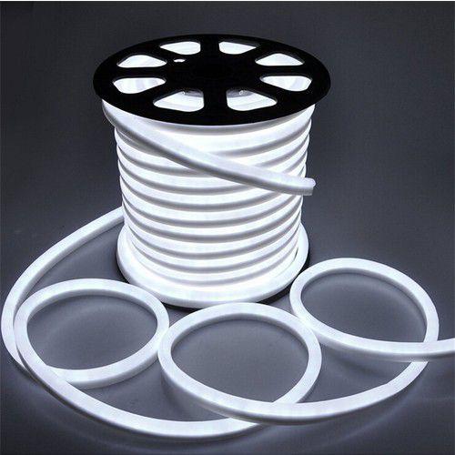 Mangueira Fita LED Neon Flexível Luz Branco frio 6000k - 12w por metro - 220v -  IP65 - Rolo com 100 Metros