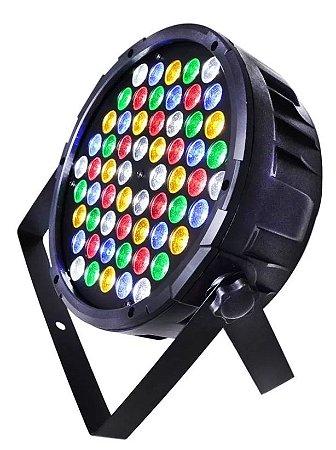 Canhão Refletor - Par 64 - 60 LEDs - RGB - Strobo - Jogo de Luz para Festas
