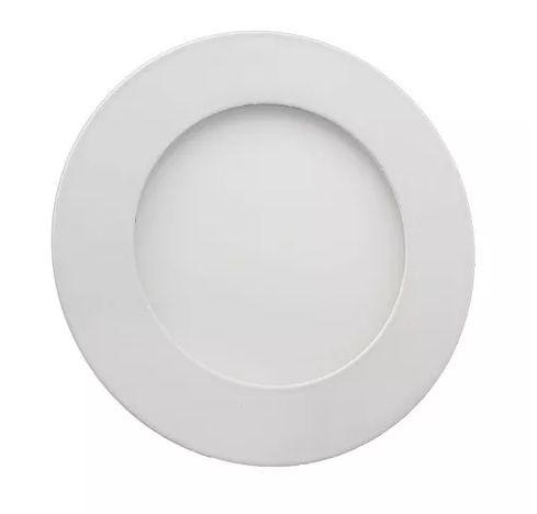 Luminária Plafon 06w LED Embutir Redonda Branco Quente 3000K
