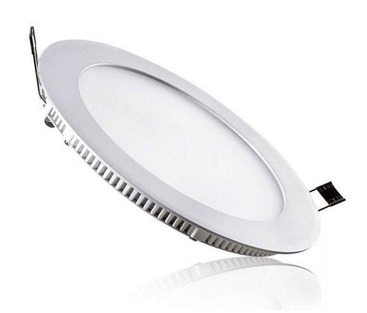 Luminária Plafon 25w LED Embutir Redonda Branco Quente 3000K