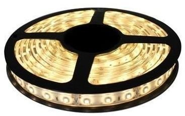 Fita LED - 5050 Branco Quente (3000K) - Rolo com 5 Metros - 6w  - 60 LEDs por Metro - IP65 (com Silicone) - 12V