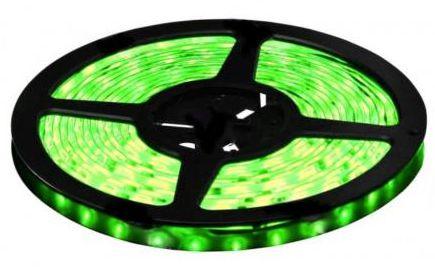 Fita LED - 5050 Verde - Rolo com 5 Metros - 6w - 60 LEDs por Metro - IP65 (com Silicone) - 12V