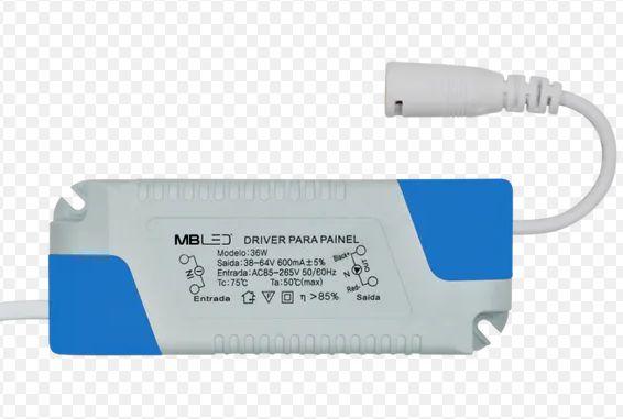 Driver LED - Reator Fonte - Para Plafon - 36 Watts - 600mA - Bivolt