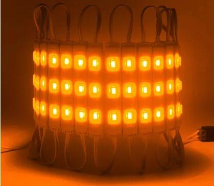 Modulo String Led SMD Kit com 20 Barras com 03 LEDS - 12v - Amarelo - A Prova D´agua