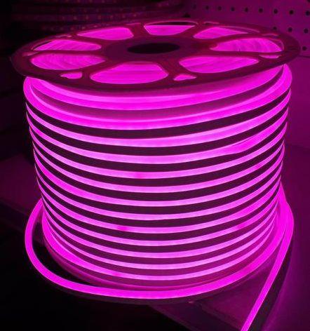 Mangueira Fita LED Neon Flexível Luz Rosa - 12w por metro - 220v -  IP65 - Rolo com 100 Metros