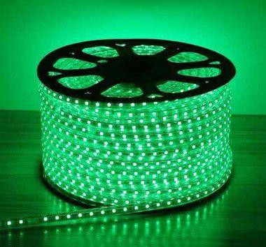 Mangueira LED Chata Verde 220v  - À prova d'água - Metro