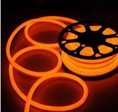 Mangueira Fita LED Neon Flexivel Luz Laranja - 07w por metro - 12v -  IP65 - Rolo com 50 Metros