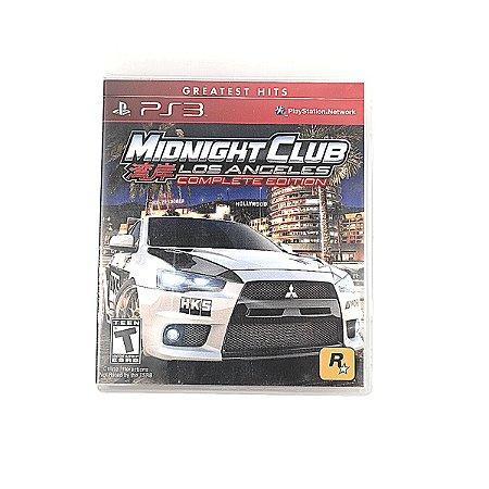 Jogo Mionight Club Los Angeles Complete Edition para PS3
