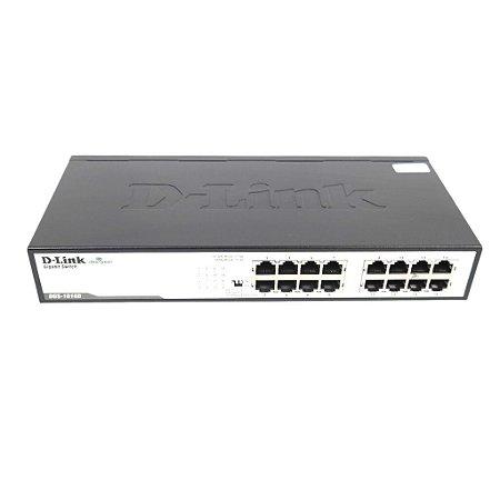Switch 16 Portas Gigabit P/rack Dgs-1016d D-link