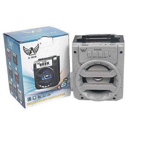 Caixa de som Bluetooth cinza